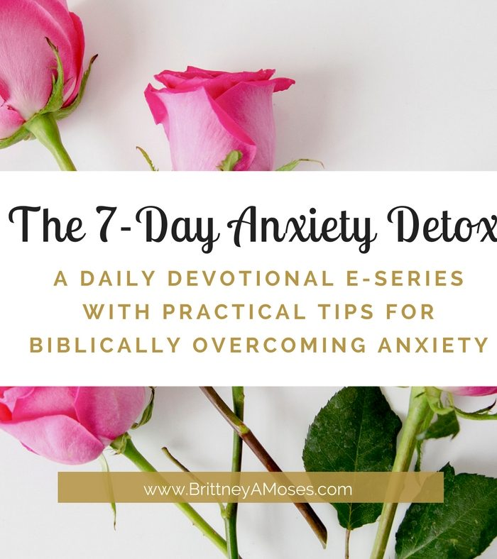 The 7-Day Anxiety Detox E-Series is Here!